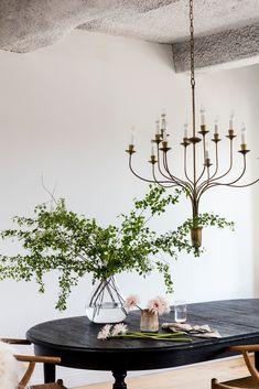 feminine, scani-inspired dining room