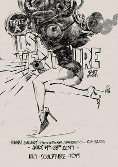 Ashley Wood, Ink Pen Art, Body Drawing, Amazing Drawings, Wood Letters, Comic Books Art, Erotic Art, Lettering, Animal Drawings