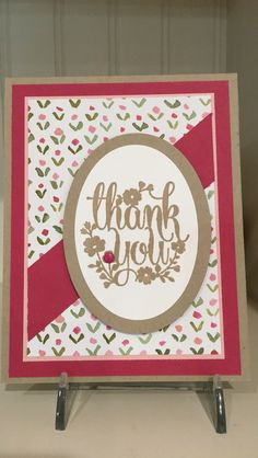 Weekend Challenge for December 18, 2015. Stampin Gals Gone Wild.  Inspired (CASED) by:  http://stampwithbrian.com/2015/09/25/an-autumn-thank-you-with-english-garden/