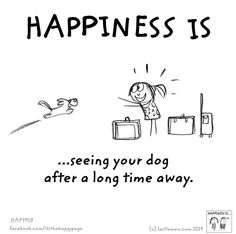 Official home for the internationally beloved brand created by Lisa Swerling & Ralph Lazar. Tell us what makes you happy & we'll illustrate it. ---i agree with this love seeing my aspen after being gone What Makes You Happy, Are You Happy, I Love Dogs, Cute Dogs, Yorkshire Terrier Puppies, Animal Quotes, Pet Quotes, Cavalier King Charles, Happy Dogs