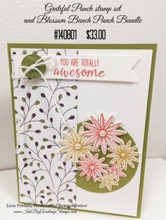 StampinUp! Grateful Bunch stamp set and Blossom Bunch Punch, StampinUp! Occasions Catalog, Inkbig Academy Stamps with Lisa Pretto, mojo monday