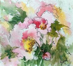"""Daily Paintworks - """"Peonies at Pickety"""" - Original Fine Art for Sale - © Sue Dion"""