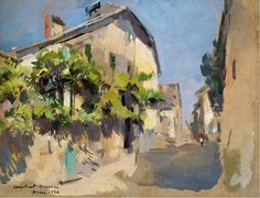 Constantin Korovin View-of-Yvoire,-1928