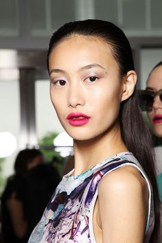 Orchid lips and silver eyes from Spring 2012 Prabal Gurung