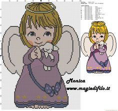 Little sweet angel cross stitch pattern