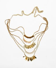 Layered Leaves Necklace noonday....giving women around the world hope