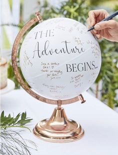 · Out of stock · Keep messages from those who mean the world to you on this stunning globe guest book alternative. This rose gold globe wedding guest book alternative is approx. tall Wide Each globe will… Cute Wedding Ideas, Wedding Goals, Different Wedding Ideas, Wedding Ideas Guests, Summer Wedding Ideas, Fall Wedding Inspiration, Modern Wedding Ideas, Wedding Ceremony Ideas, Wedding Styles