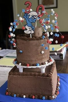 The Smurfs Cakes #smurf #cakes www.loveitsomuch.com