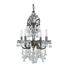 I pinned this Marithe Crystal 4-Light Chandelier from the Gold Coast Lighting event at Joss and Main!