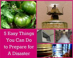 Preparing for a disaster can be easy...just remember these 5 things and you are on your way! The Homesteading Hippy