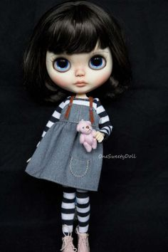 Alice   dark brown hair RBL Blythe factory custom by OneSweetyDoll