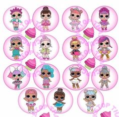 8th Birthday, First Birthday Parties, Lol Doll Cake, Edible Cupcake Toppers, Cupcake Images, Lol Dolls, Cupcake Party, 1st Birthdays, E Bay