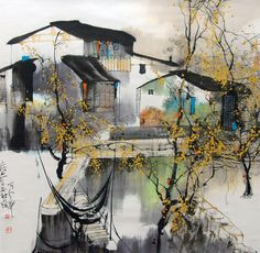 Liu Maochan - a Chinese painter with a touch of French impressionism à la Monmartre.