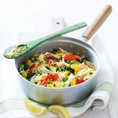This smoked mackerel pilau rice recipe is a great one-pot dish that is both quick and easy, plus it makes enough to have leftovers the next day. Tagine Recipes, Shellfish Recipes, Seafood Recipes, Pasta Recipes, Vegetarian Recipes, Surimi Recipes, Endive Recipes, Coffe Recipes, Crohns Recipes
