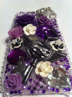 Royal purple iPhone 5 case by DazzlingCases on Etsy, $30.00