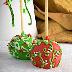 Holiday Chocolate Brownie Favor Pops