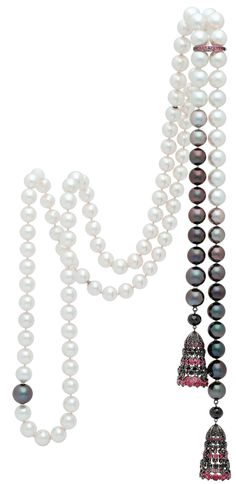 Autore ~ South Sea pearls in a gradient of color