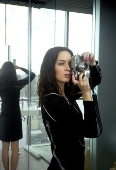 Emily Blunt with a Contax G2