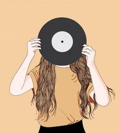 The girl took a sheet of music in antiquity Premium Vector Girl Cartoon, Cartoon Art, Music Girl, Pink Music, Art Sketches, Art Drawings, Logo Free, Cover Wattpad, Photos Hd