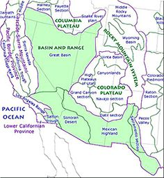 Mountain Ranges Of The West On A Map America Google Search