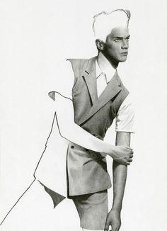 Richard Kilroy Fashion Illustrations | Male Model | Suited | Pencil Drawing | Fashion | Pose | Art: