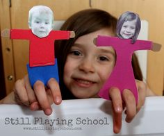 Create personalized finger puppets for kids with your child's photo