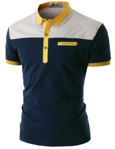 Doublju Men's Short Sleeve Pocket Polo Shirt (CMTTS016) #doublju