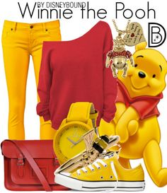 Super cute and casual Winnie the Pooh Outfit | Disney Fashion | Disney Fashion…