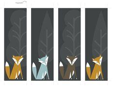 FREE fox bookmark printables