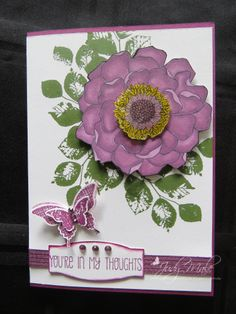 Stampin' Up! Blended Bloom  Kinda Eclectic Hello There