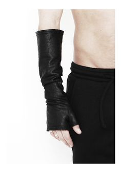 "DAVID ROAD ""SWEATSHIRT LEATHER EFFECT GLOVES"" SOLD BY TWO : 120 € -30% >> 84 €"