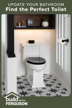 The best selection in home improvement is all in one place. Shop the styles and finishes you love, and discover products you won't find anywhere else. Downstairs Bathroom, Bathroom Renos, Bathroom Wall Decor, Bathroom Interior, Master Bathroom, Small Bathroom Renovations, Bathroom Toilets, New Bathroom Ideas, Small Bathroom Storage