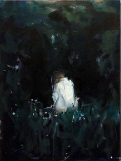 """""""Shadow,"""" dark figurative painting by artist HYUNJU KIM 