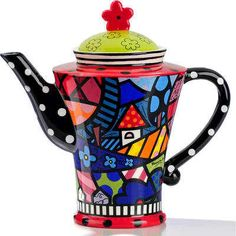 ROMERO BRITTO CERAMIC HOME DESIGN TEAPOT