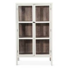 The Vista Library Cabinet with Glass from Threshold™ combines the elegance of glass with a rustic wood look — the perfect furniture for displaying precious antiques and collectibles. Its sleek and simple design blends easily with any decor from traditional to mid-century modern to contemporary.