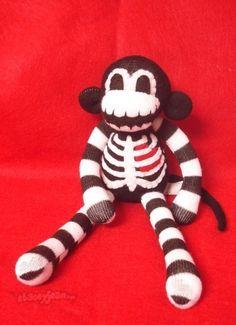 skeleton sock monkey.