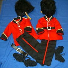 Queens Guards Uniforms...   I made them for the peas to dress up in to celebrate The Queens Jubilee 2012
