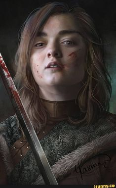 Perfect realistic digital artworks of Arya Stark from HBO Game of Thrones, done by Yasmine Vesalpour Arte Game Of Thrones, Game Of Thrones Artwork, Game Of Thrones Arya, Game Of Thrones Quotes, Arya Stark Art, Game Of Thones, My Champion, Winter Is Here, Mother Of Dragons