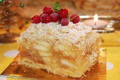 Jablečná pochoutka, vhodná na jakoukoliv párty nebo oslavu. Velmi dobrý vídeňský jablečný koláč. Mňam! My Dessert, Dessert Recipes, Czech Desserts, Anni Downs, Czech Recipes, Fruit Pie, Sweet Tooth, Cheesecake, Food And Drink