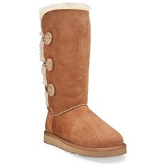 Bailey Button Triplet ($220) ❤ liked on Polyvore featuring shoes, boots, button boots, ugg australia boots, ugg australia, ugg® australia shoes y button shoes