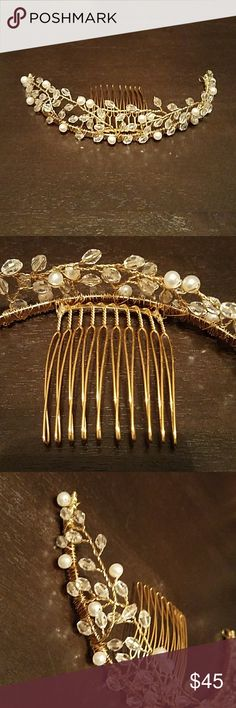 Winters and Rain Tiara Authentic Winters and Rain Tiara in gold with swarwoski crystals and pearls. Worn once.  Don't have the original box. *similar pieces are priced over $100 on posh* Winters and Rain Accessories Hair Accessories