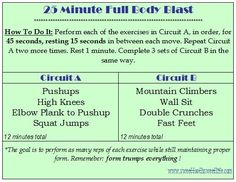 25 Minute Full Body Blast (No Weights Required!)