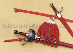 Rapier set with decorated spanish hanger