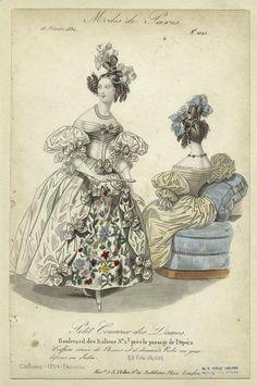 """""""Modes de Paris"""", Petit Courrier des Dames, February 1834; NYPL 802095"""