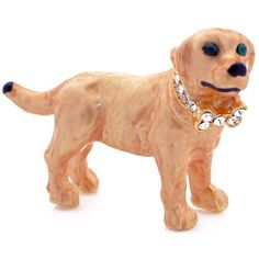 Yellow Dog pin Swarovski Crystal Animal Pin Brooch Fantasyard. $16.99. Gift box available for an additional fee. Please check out through gift-wrap option. Other color available. Exquisitely detailed designer style