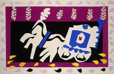 """from the book """"Jazz,"""" 1947, Henri Matisse. Stencilled in gouache, after Matisse's cutouts, with facsimile; 42,3 x 32,7 cm. The Hermitage Museum, St. Petersburg."""