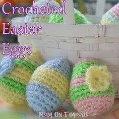 Crochet Easter Eggs - free pattern