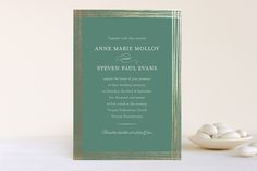 Evening Elegance Foil-Pressed Wedding Invitations by Katherine Moynagh at minted.com