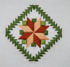 AnaMotifFree, needlepoint eight-pointed star