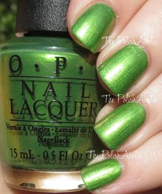 My Gecko Does Tricks is a bright yellow toned green shimmer.The PolishAholic: OPI Spring 2015 Hawaii Collection Swatches & Review